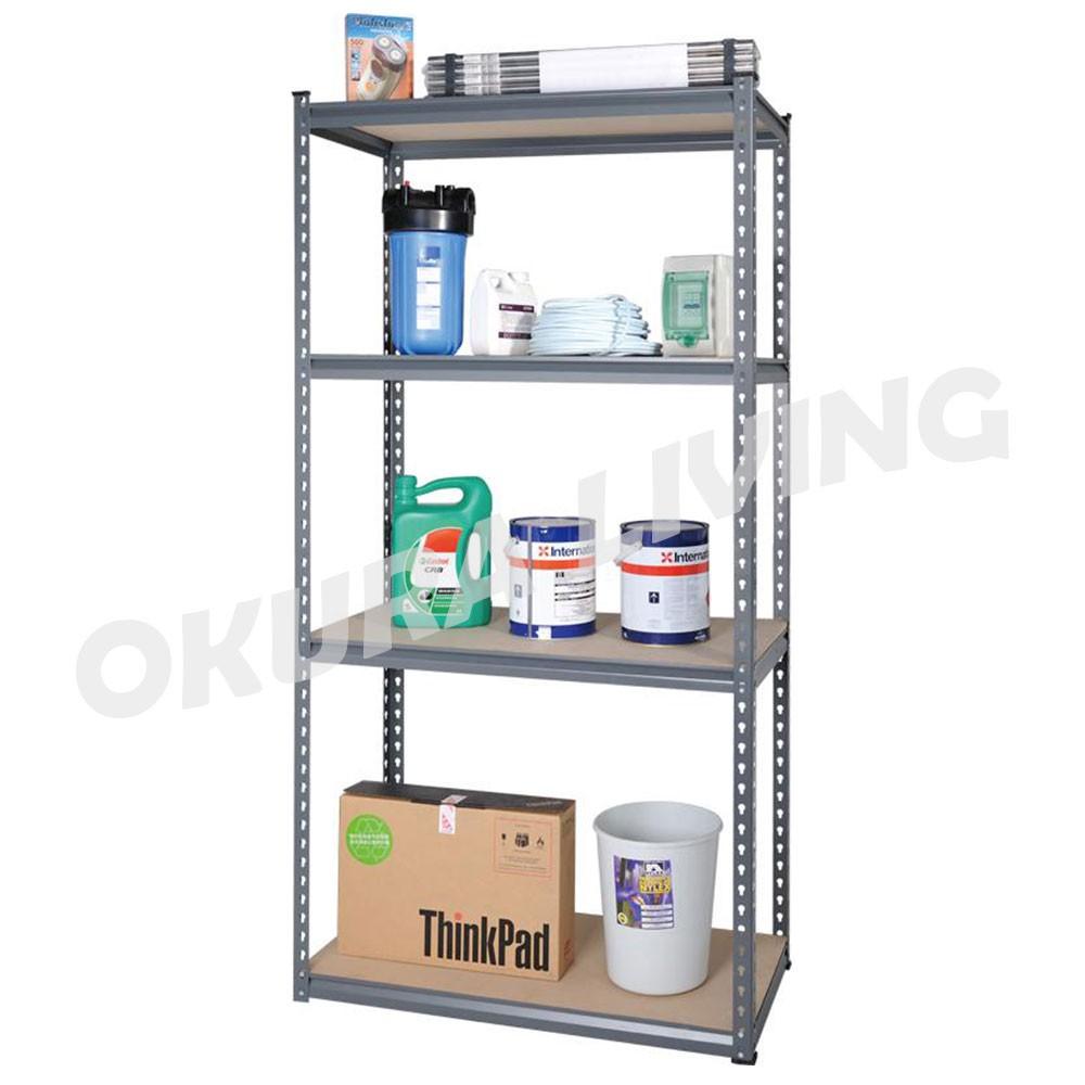 OKURA 4 Tier Multipurpose Metal Shelf Kitchen Home Office