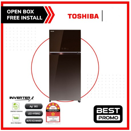 TOSHIBA 661L 2-DOORS DUO HYBRID, INVERTER REFRIGERATOR PETI SEJUK BESAR GR-AG66MA(PGB )