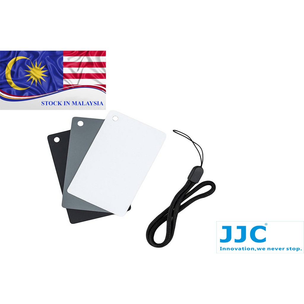 JJC GC-2 3 in1 3 Color Digital Card Set for White Balance Adjustment (Ready Stock In Malaysia)