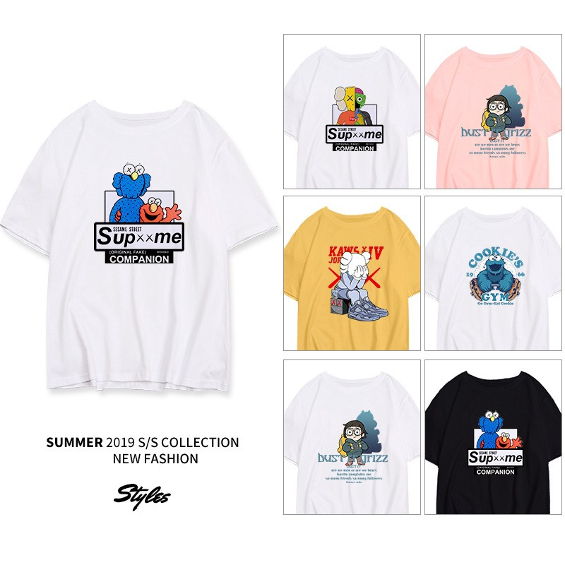 High Quality Women/'s Round Neck Short Sleeve Summer Color Print Fashion T-Shirt