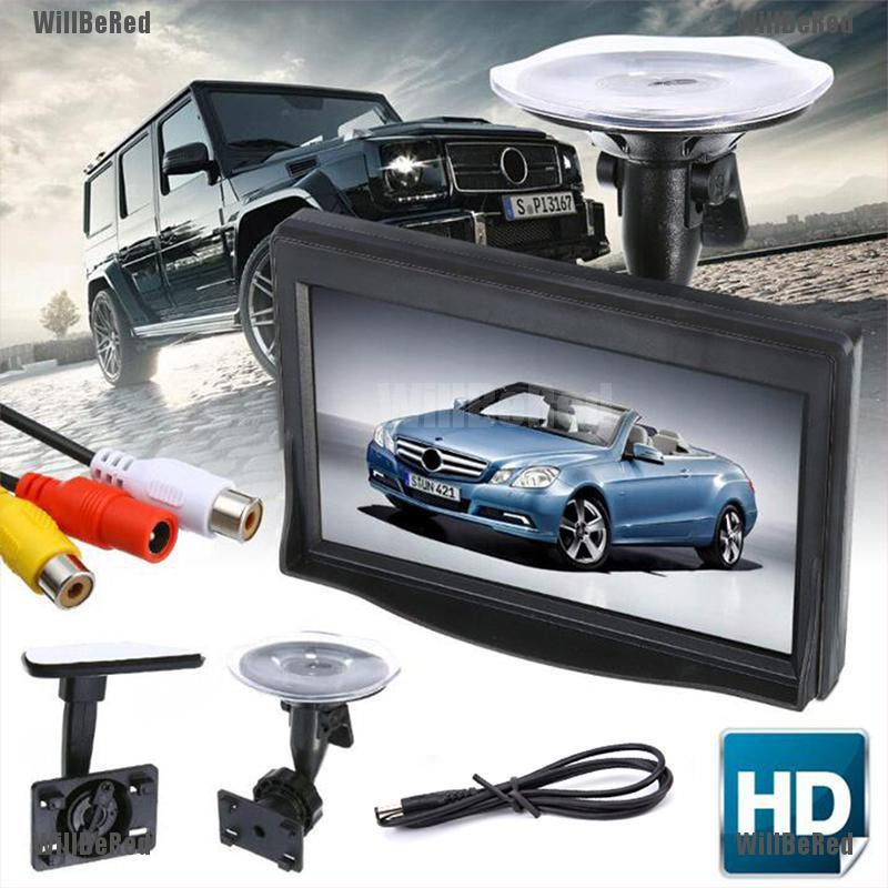 5 Inch HD Screen Monitor For Car Rearview Reverse Backup Parking Camera Cam  TWU