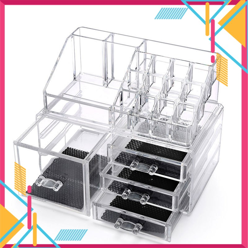 4 Drawers Acrylic Cosmetic Makeup Organizer