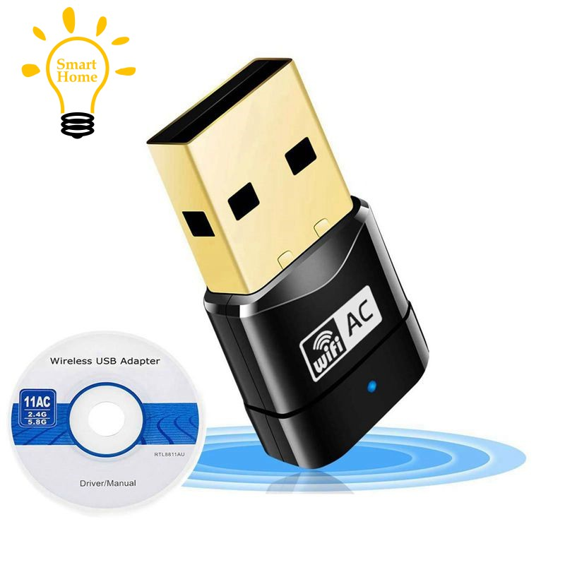 〔≈〕600Mbps Dual Band 802 11ac 2 4GHz 5GHz PC WiFi USB Adapter Network LAN  Dongle