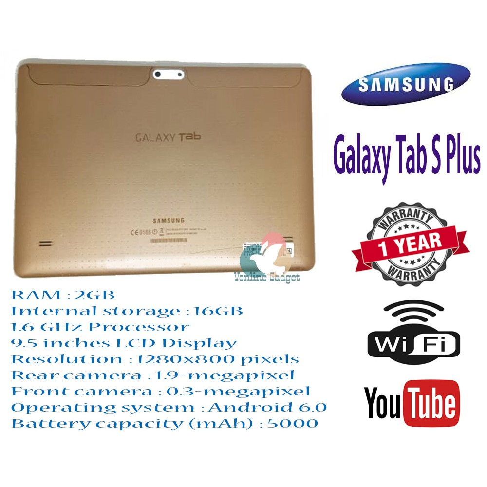 Ready Stock !! SamSung Galaxy Tab S Plus !! 2GB RAM / 16GB