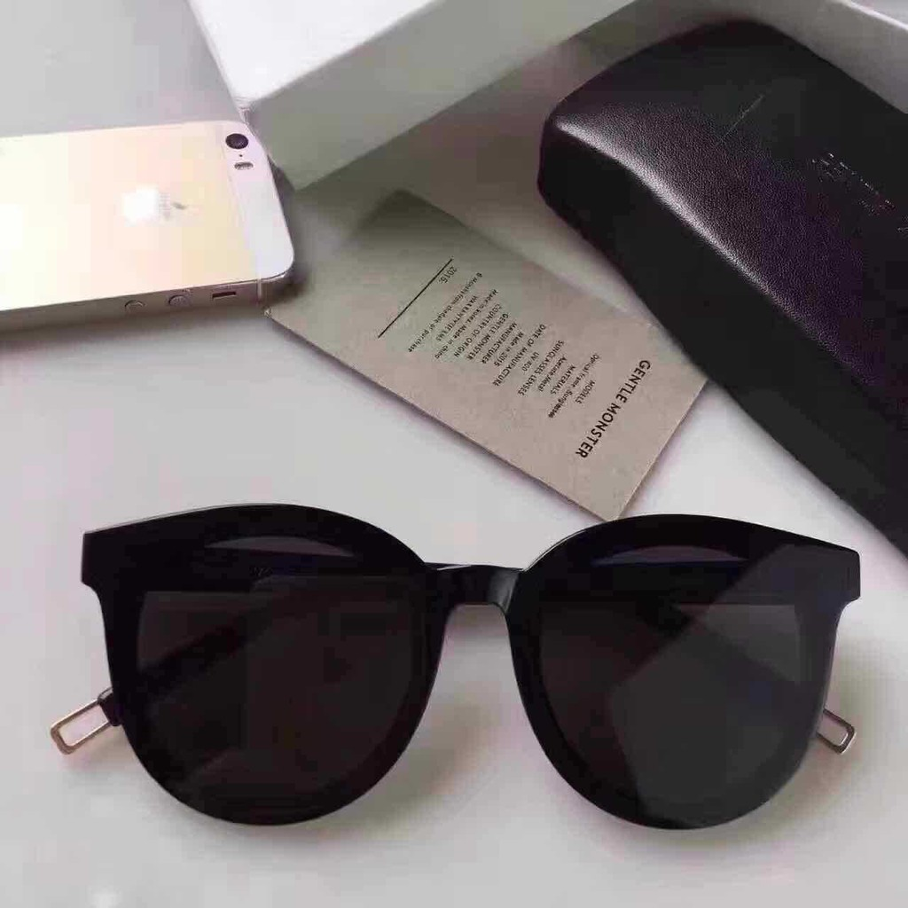 82bdc127536 Legend of the blue sea stars with the same paragraph GM sunglasses female  2018 new Korean sunglasses black peter