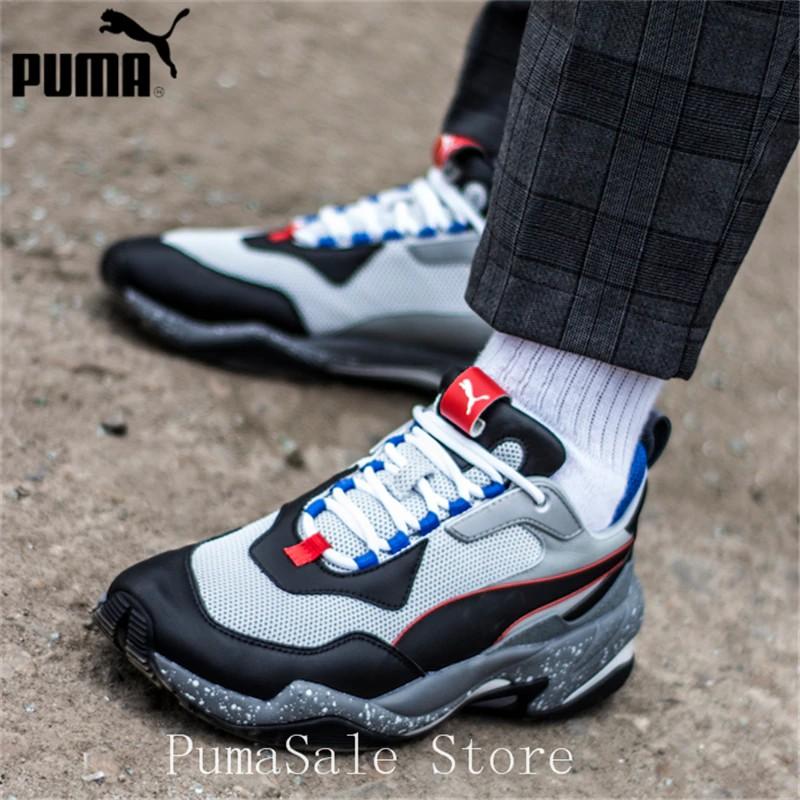 PUMA Thunder Electric Spectra Men's Sneakers 367996 02 Badminton Shoes Grey Black Thunder Desert Sneaker Retro Dad Shoes