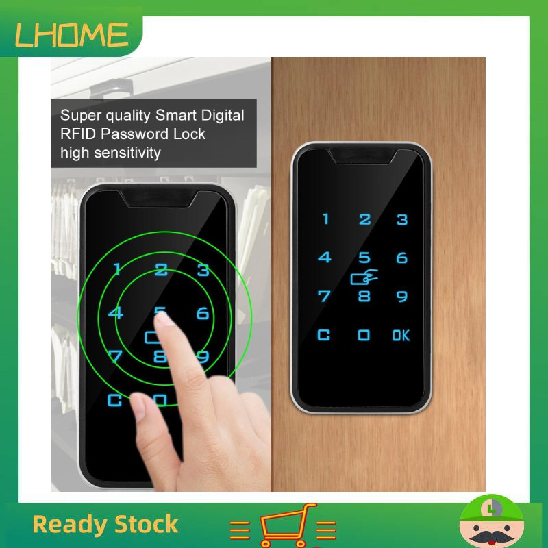 ❀High quality Touch RFID Smart Cabinet File Lock Lock Electronic Digital  Password Wardrobe