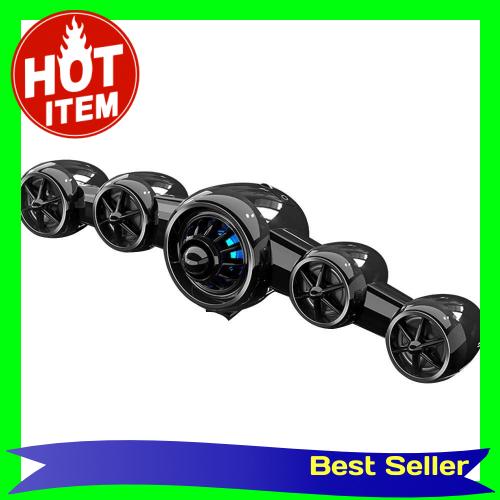 D-219 USB Desktop Computer Speaker Mini Aircraft Shape AUX Soundbar Home Subwoofer Stereo Sound Speaker (Black)