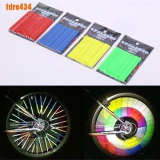 12X Bike Bicycle Wheel Spokes Sticker Tube Warning Safety Light Reflective Tubes