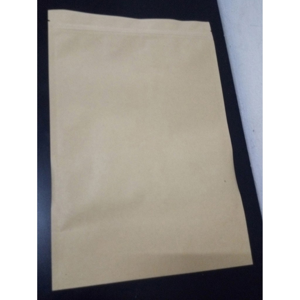 Ziplock Vacuum Air Tight Sealed Thick PET And PE Plated Kraft Paper Bag - 20 x 30cm, B5 Size