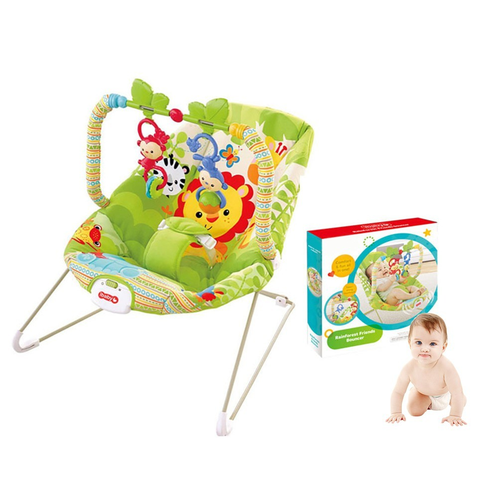 [ READY STOCK ]  Baby Rocking Electric Toddler Chair Music Vibration Newborn Kid Jualan Murah Pretend Play Bed Cover