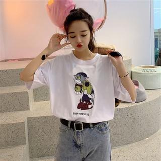 1c92cfc0a1 Summer Korean t-shirt female short-sleeved student loose cartoon print