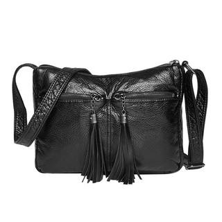 a5a7647a950d Hot Women Simple Soft PU Leather Handbags Small Tassel Crossbody ...