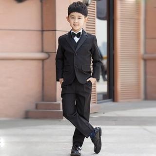 8eee88f59fc91 💐💐Boys Kids Children Suit Kids Formal Dress Black Suit Tuxedo ...