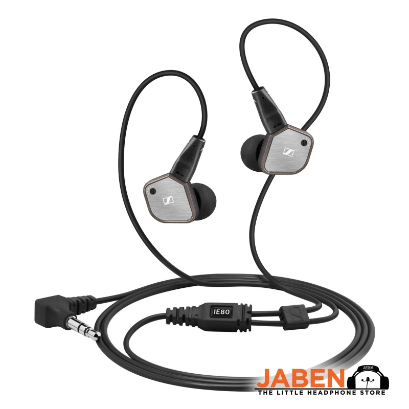 Sennheiser IE 80 Custom Bass Tuning Brushed Metal Housing Replaceable Cable In-Ear Earphones [Jaben]