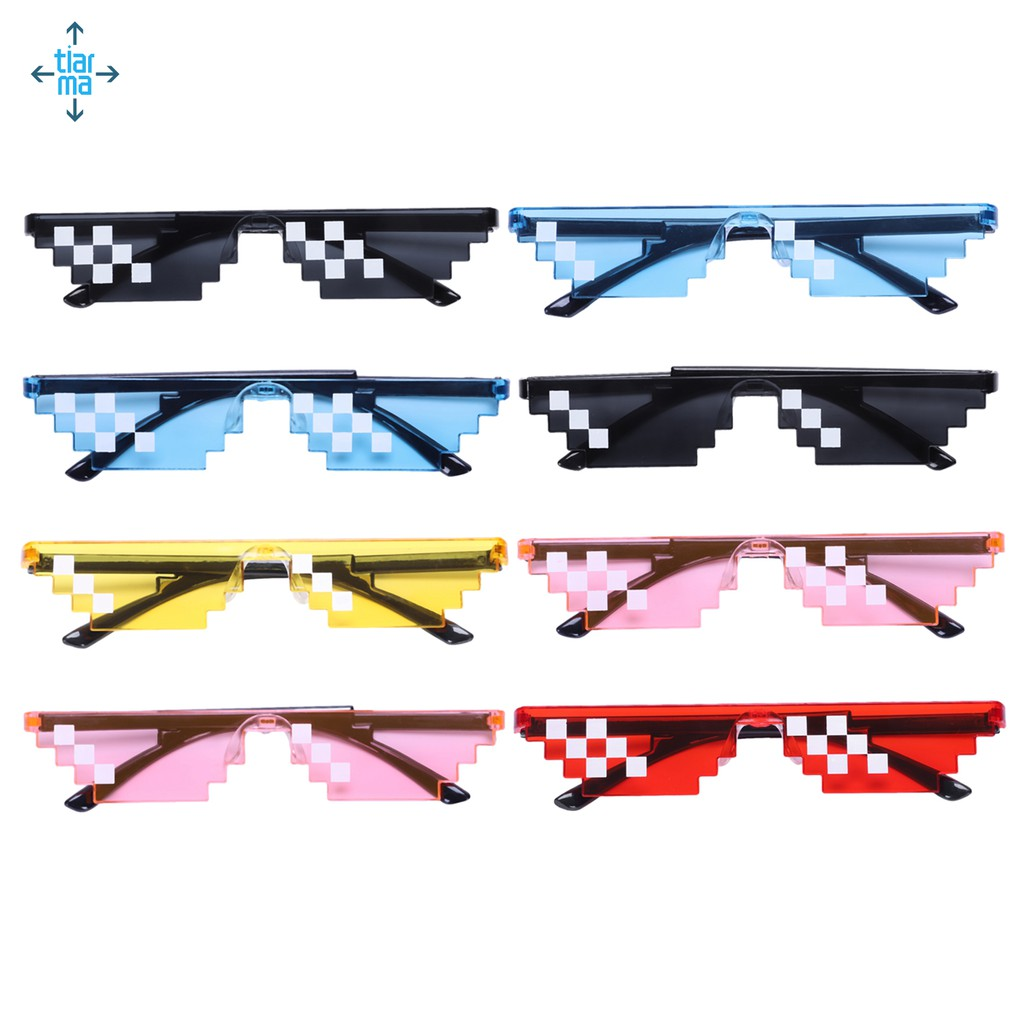 Thug Life Cosplay Sunglasses Japanese Pixels for Party / Cosplay Sunglasses Black 2