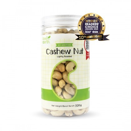 Love Earth Light Roasted Cashew Nut 320g 乐儿天然浅烤腰果 320公克 (罐装)
