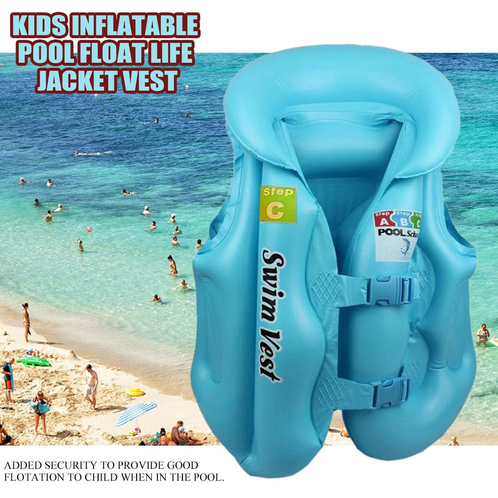 Kid Adult Baby Child Pool Swimming Training Vest Float Inflatable Jacket | Shopee Malaysia