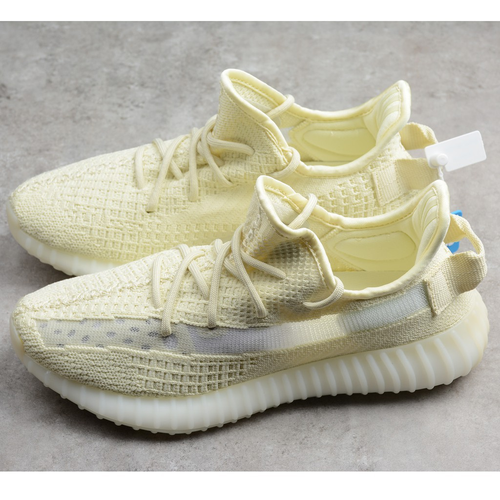 cheaper 94d72 3bb92 Original adidas Yeezy Boost 350 V2 YELLOW RUNNING SHOES sneakers students