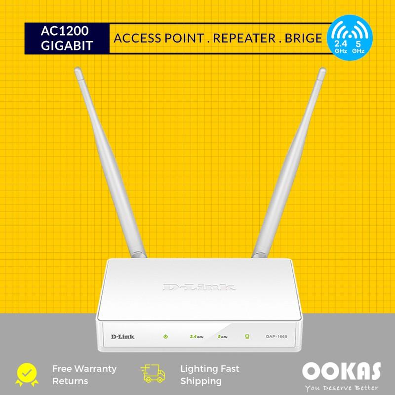 D-LINK DAP-1665 AC1200 Gigabit Dual Band Access Point WiFi Repeater /  Extender