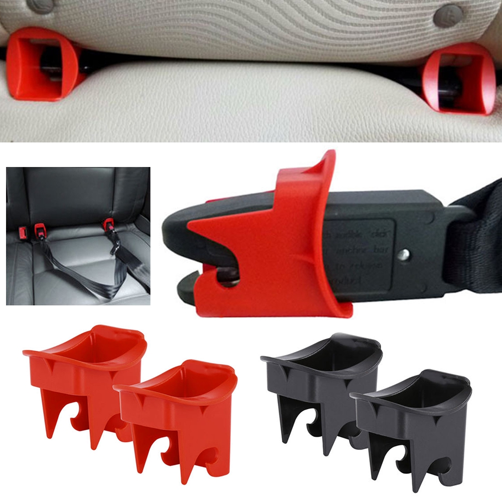 Black//Red 1 Pair Car Baby Seat ISOFIX Latch Belt Connector Plastic Guide Groove