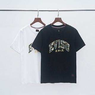 d3e48e545d4 EVISU 19AW Men's Buddha Print Short Sleeve men women T-Shirt ...