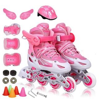 Gosome Pink Light Up Inline Skates Size 5-7 Roller Blades