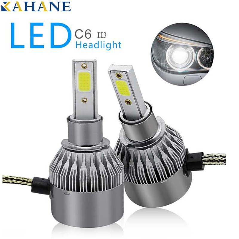 2PCS C6 LED Car LED Headlamp H3 Headlight H4/H7/H8/H11/HB3/HB4 9006 Car Led  Light Bulb Fog Lamp