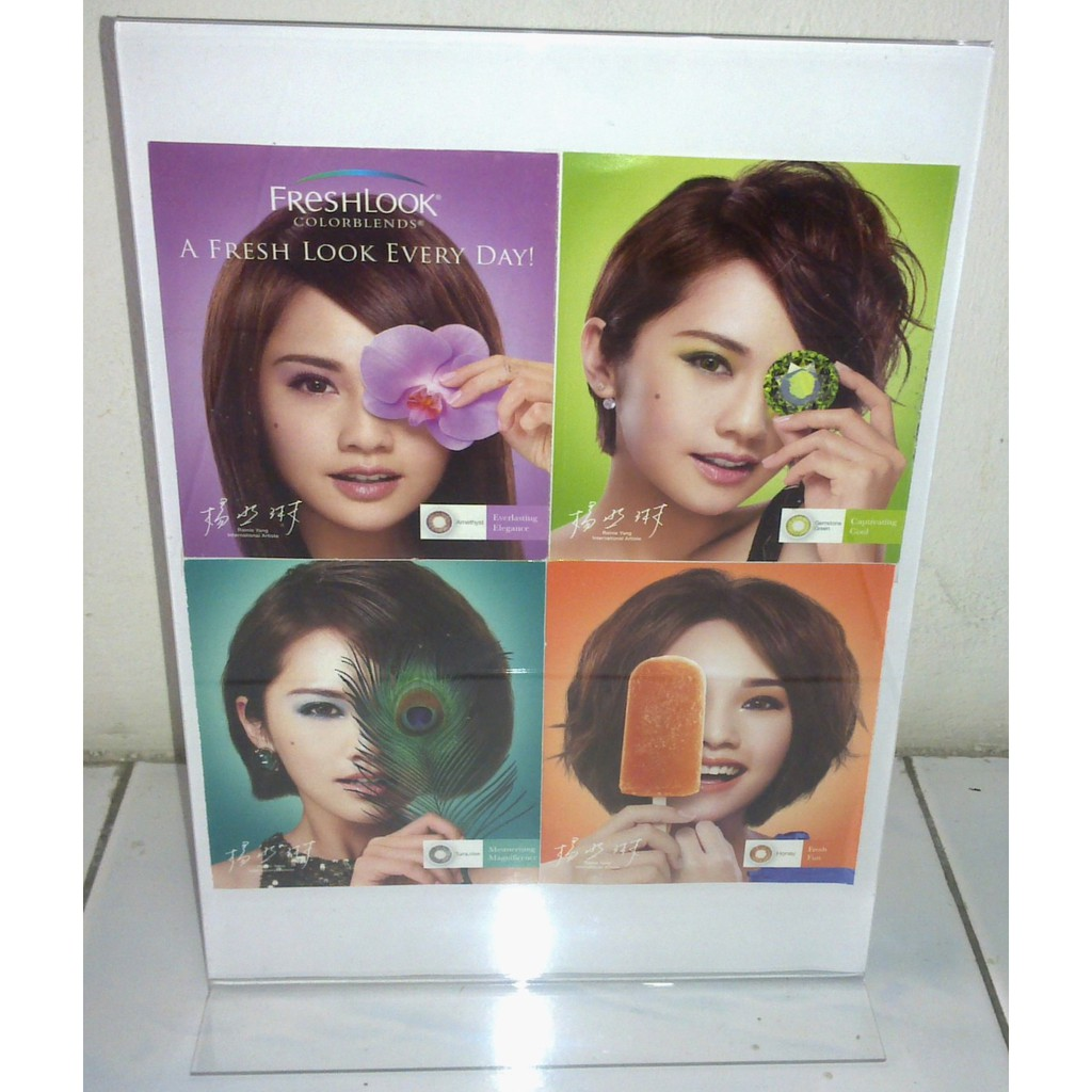A4 Vertical Size T Shape Acrylic Brochure Stand Type A, 2.0mm