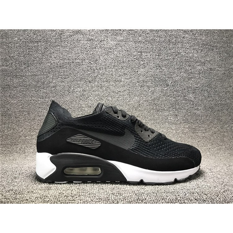 the best attitude 8003f 65bb9 real picture NIKE air max 90 ID flyknit breathble all black oreo for men  shoe
