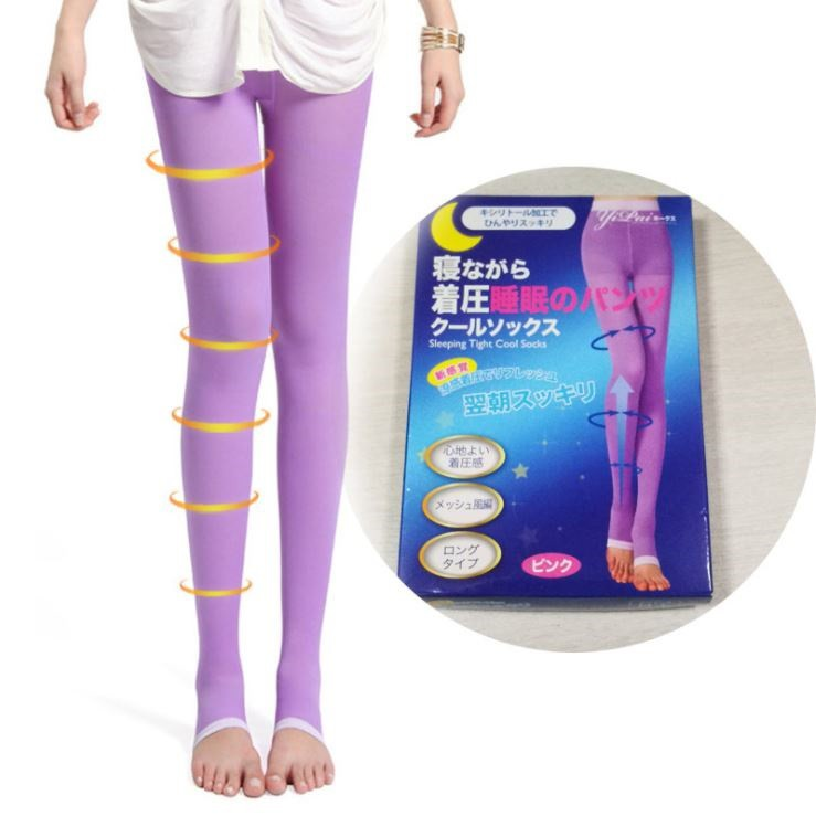 5f95f92e720 Women Sculpting Sleep Leg Shaper Legging Socks Body Shaper Slimming Pants