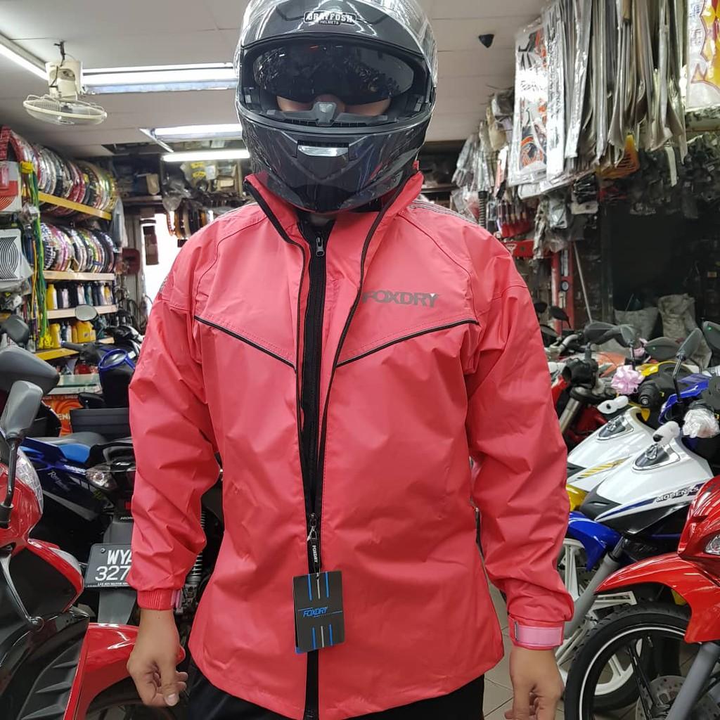 Racing Boy Riding Jacket With Padding Black Shopee Malaysia Jaket Fleece Db Red