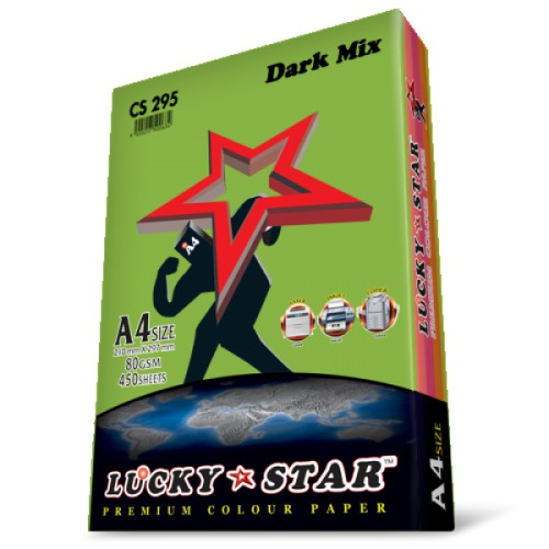 Lucky star A4 Mix Dark Color Paper 450s