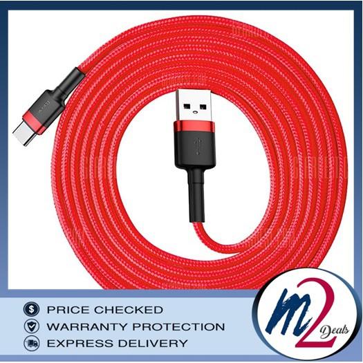 CNY Mega Sales Baseus Cafule 0 5M 3A Type-C Data Sync Charging Cable