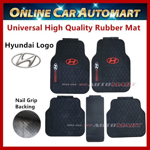 Universal High Quality Rubber Spike Nail Backing With Hyundai Logo Floor Mat