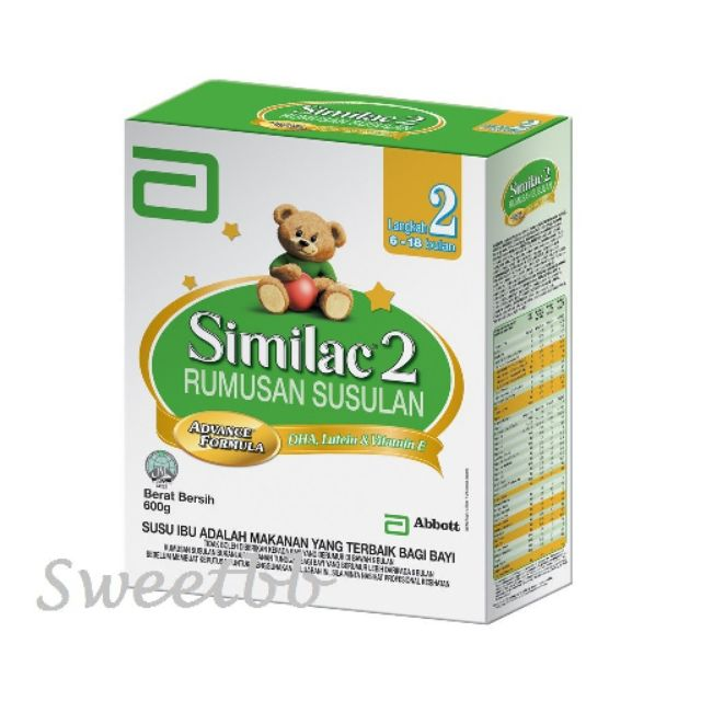 Abbott Similac 2 600g exp 05/2020