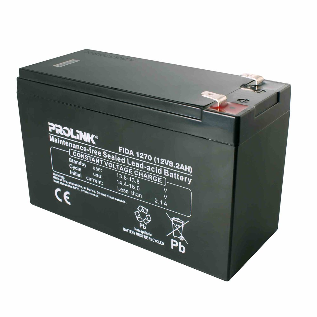 PROLiNK Maintenance Free VRLA Battery (8.2AH/12V)