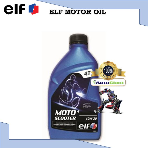 ELF MOTO 4 SCOOTER 10W30, 1L - (100% ORIGINAL)**NEW STOCK** MINYAK HITAM MOTOR
