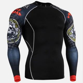 b1a7f1ca0a56 Skull Sports T Shirt Gym Shirt Men Compression Tight Fitness Top Tshirt  Rashgard | Shopee Malaysia