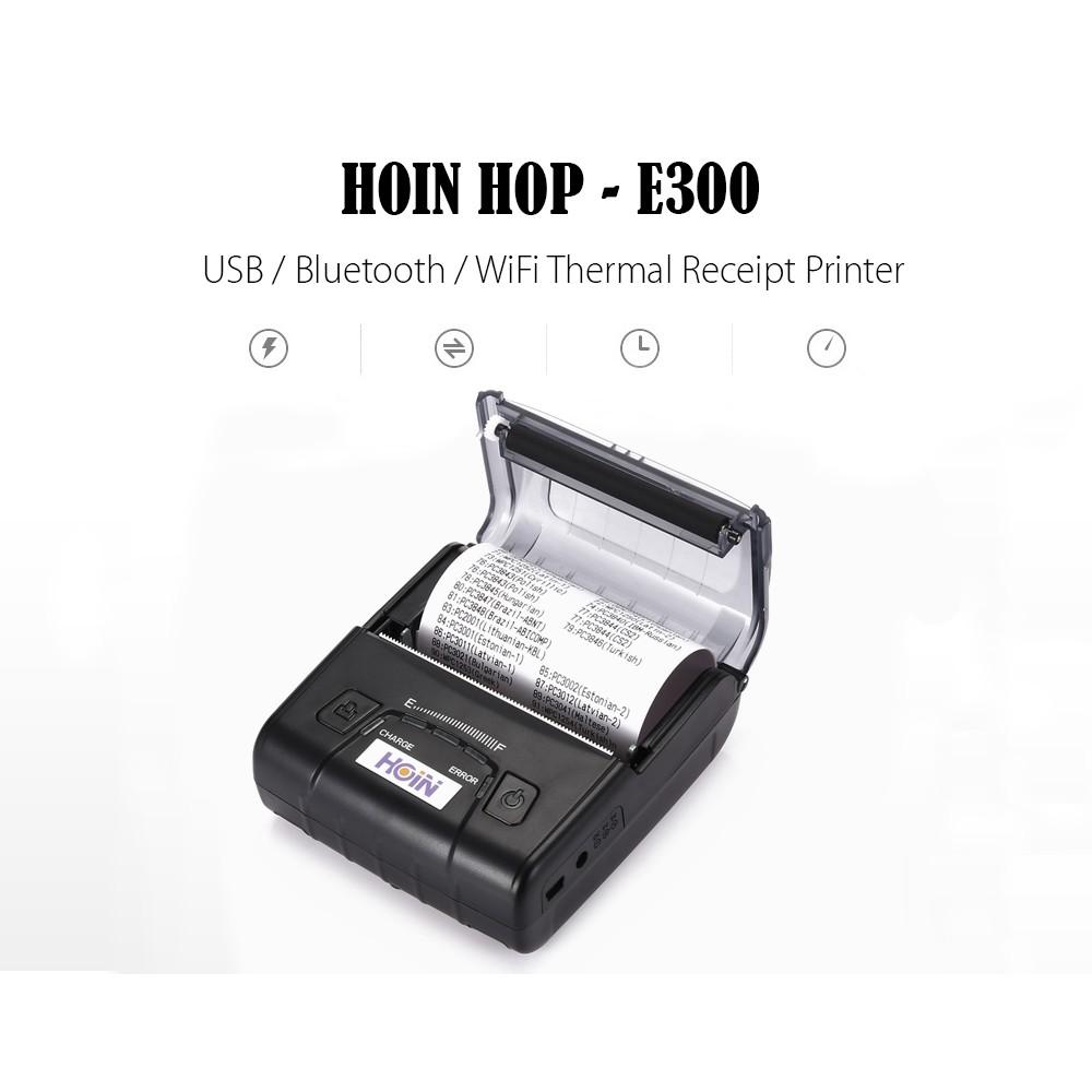 【Ready Stock】HOIN HOP - E300 USB / Bluetooth / WiFi Thermal Receipt Printer