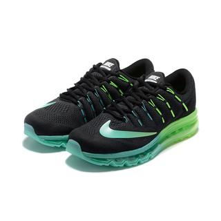 Nike Men's Air Max 2016 Running Shoe Breathable Sport BlackGreyGreen