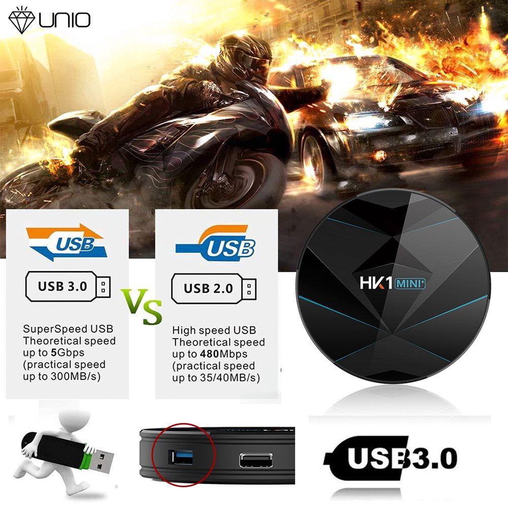 UNIO HK1 MINI+ Smart TV Set Top Box Android 9 0 RK3318 2G+16G 4k HD Network  Player