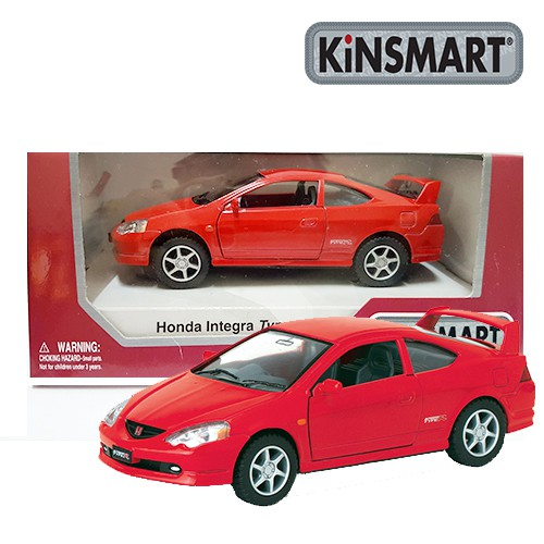 Kinsmart Die-cast Honda Integra Type R Car Metal Red Model Collection 1:34 Official Licensed Product