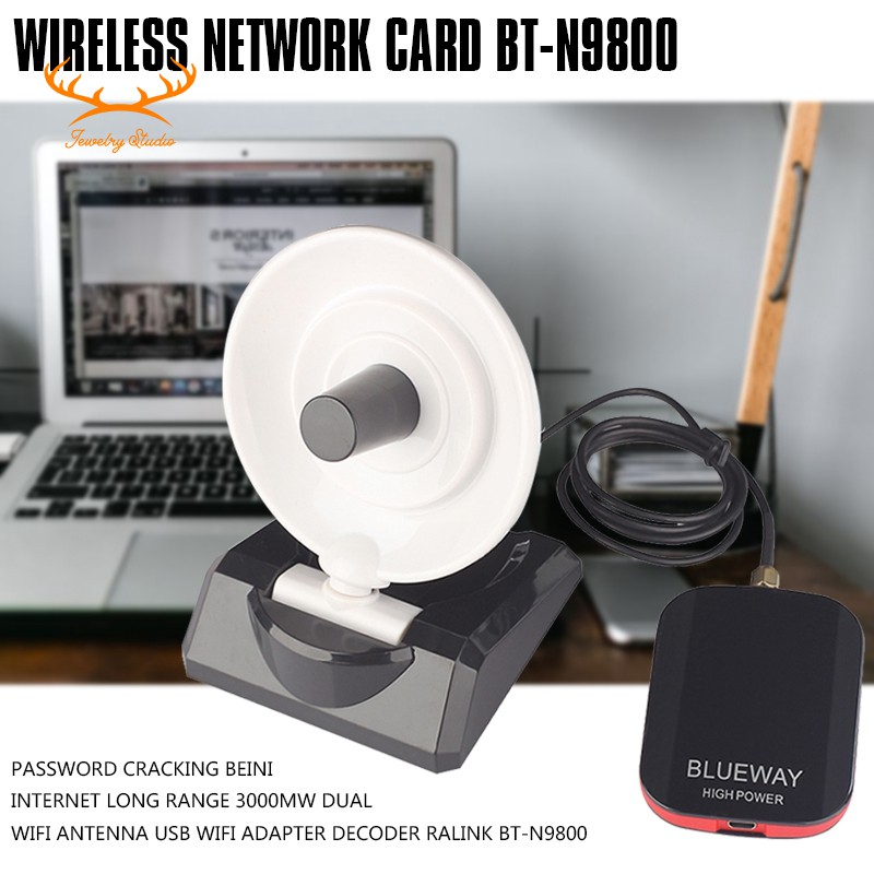 ☀Stock☀Password Cracking Antenna USB Wifi Adapter Decoder Ralink BT-N9800