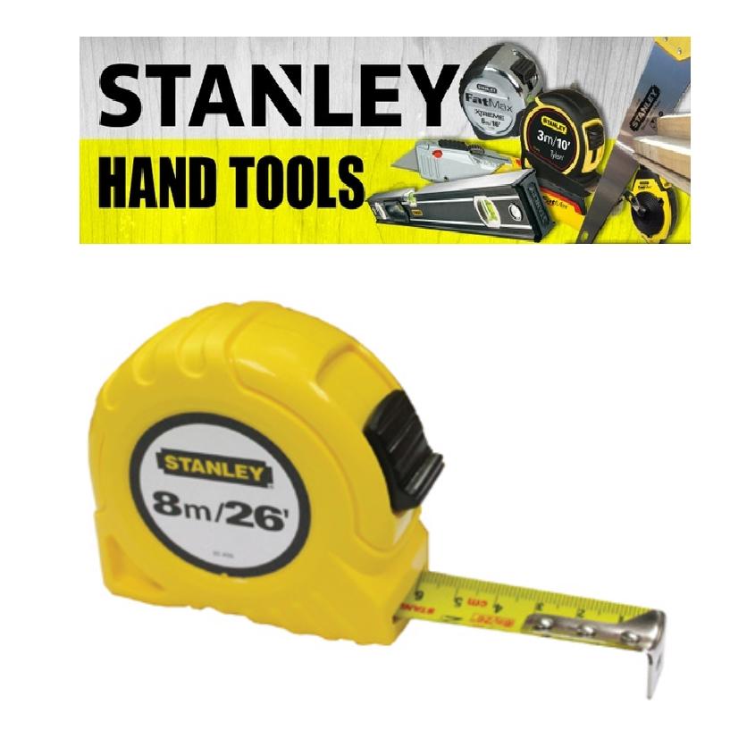 STANLEY HAND POWER TOOLS GLOBAL TAPE 30-456 26FFET 8 METER 1 INCH 25 WIDTH TAPE MEASURE (3 MONTH WARRANTY)