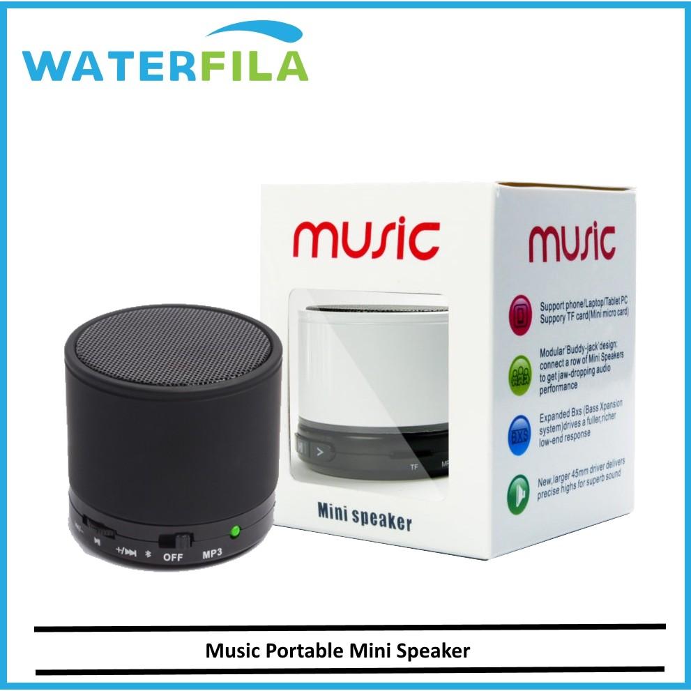 Bluetooth Wireless Outdoor Portable Mini Black Speaker Stereo Bluetooth Speaker Support U Disk Tf Card Universal Mobile Shopee Malaysia