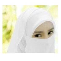 Purdah Putih Lembut Unruk Wanita