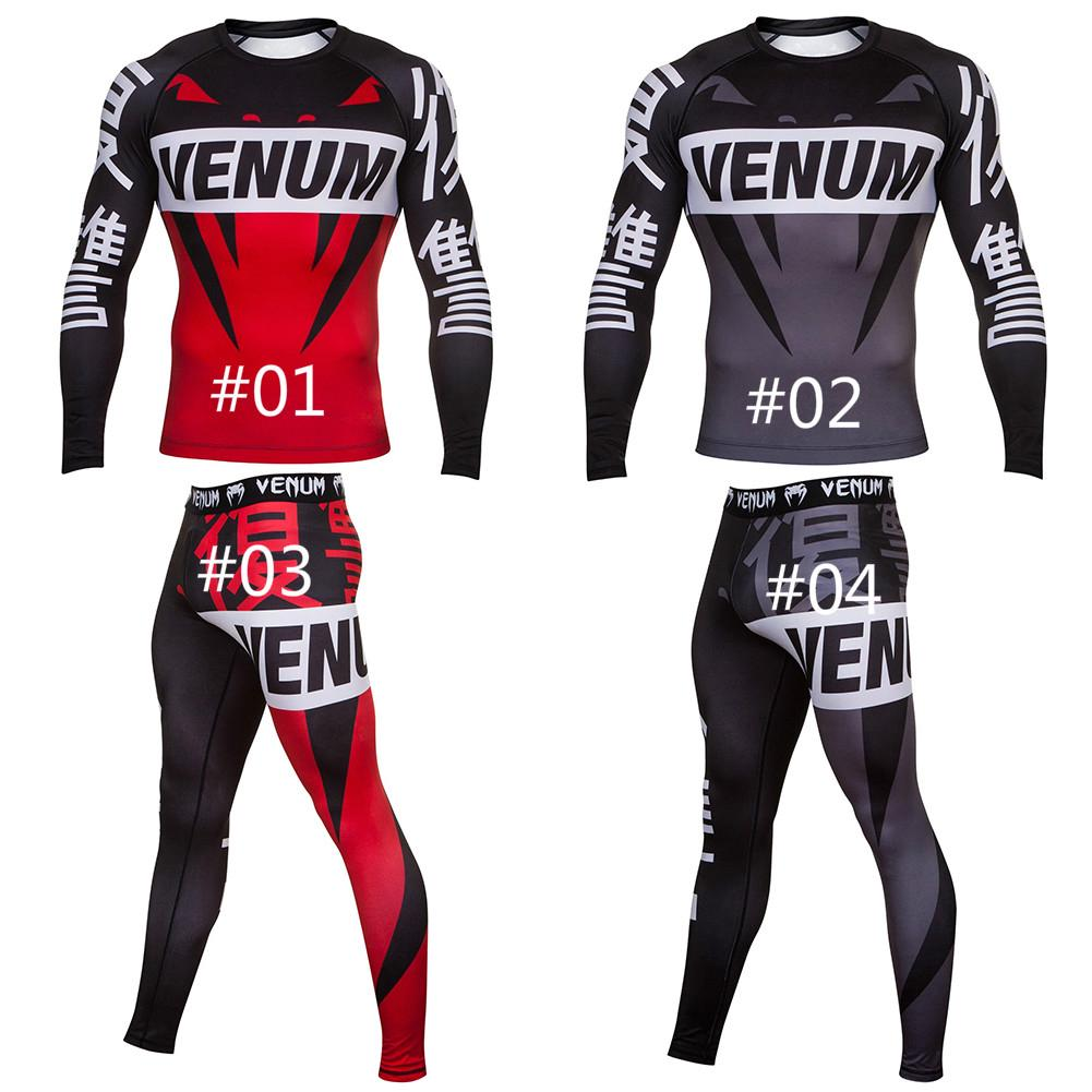 Venum Fight with Short// Long Sleeve Rashguard Quick dry training running tights