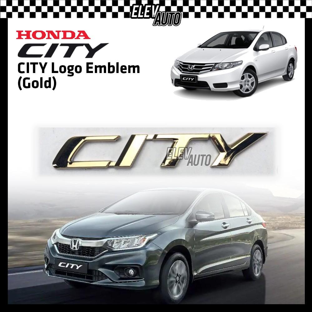 GOLD Civic / City Car Logo Emblem Honda City & Civic