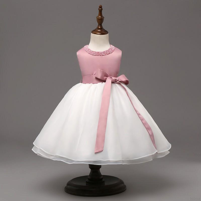 18ecc591ca54 BOBORA Infant Baby Girls Flower Baptism Christening Dresses Birthday Tutu  Dress